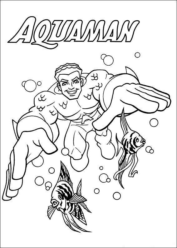 Aquaman Coloring Page Online Superhero Coloring Pages Coloring Books Superhero Coloring