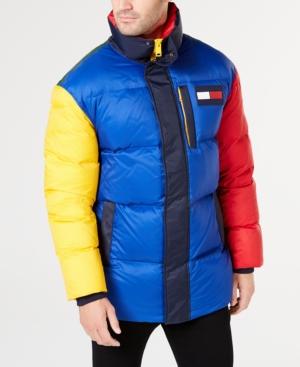 74ada38dcd0a Tommy Hilfiger Men's Wilson Colorblocked Puffer Jacket - Gray M ...