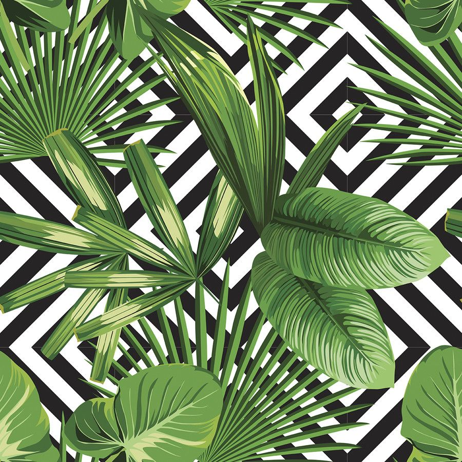 Palms Over Diamonds Removable Wallpaper