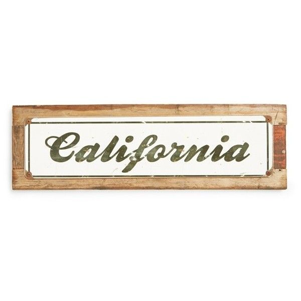 Poncho & Goldstein 'California Script' Sign (380 NOK) ❤ liked on Polyvore