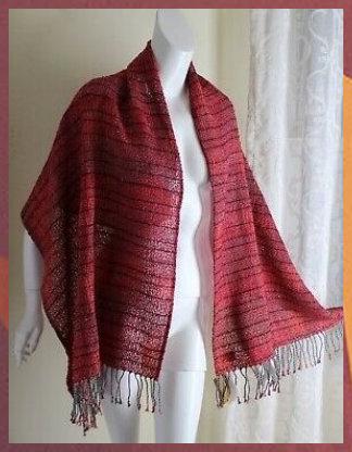Ad(eBay Url) NWT NARDA's Handwoven Red IKAT OOAK Fiber Art Shawl Wrap Scarf Phil... #Ad(eBay #Url) #NWT #NARDA's #Handwoven #Red #IKAT #OOAK #Fiber #Art #Shawl #Wrap #Scarf #Phil...