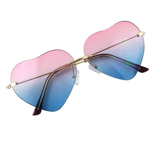 Pinkblue Heart Shape Women Sunglasses