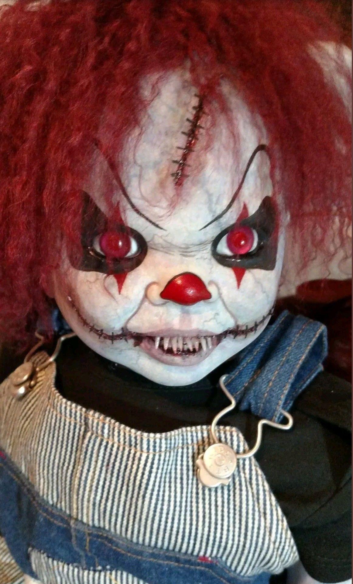 creepy cool clown doll | halloween in 2018 | creepy dolls, creepy
