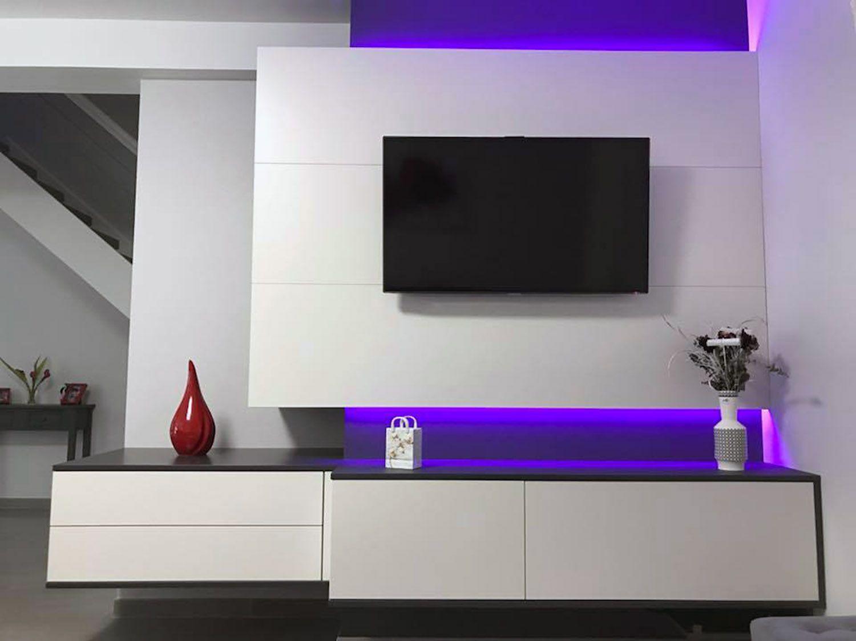 meuble tv suspendu avec led a