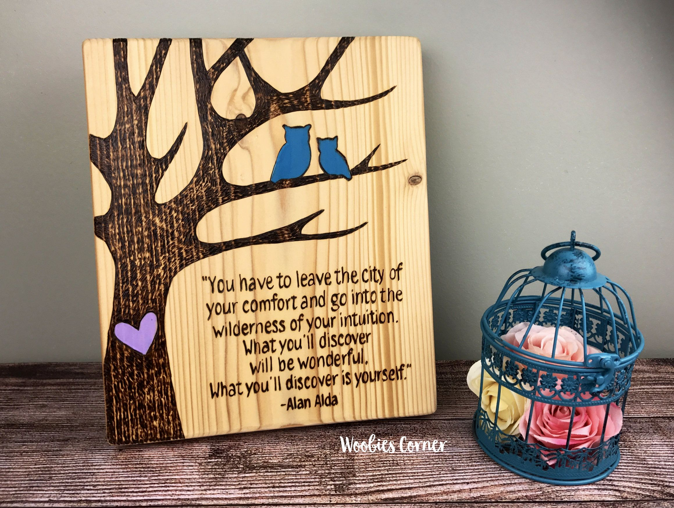 Owl decor, Custom wooden house signs, Personalized quote, Custom ...
