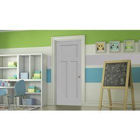 Jeld-Wen Craftsman Drift Hollow Core Molded Composite Single Prehung Interior Door (Common: 36-In X 80-In; Actual: 37.56