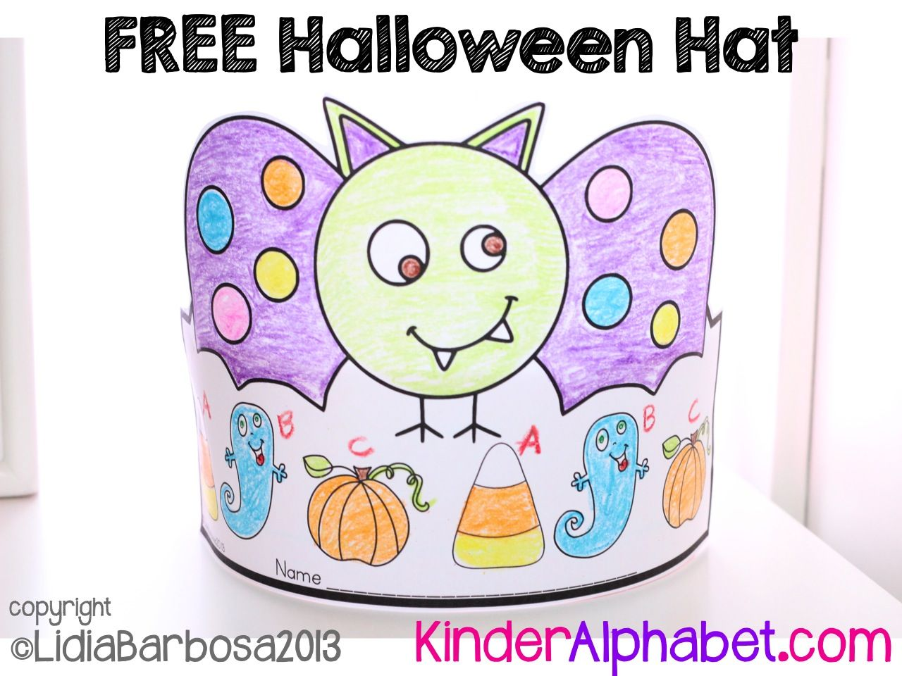 here u0027s a free halloween hat that can be used in october it can be