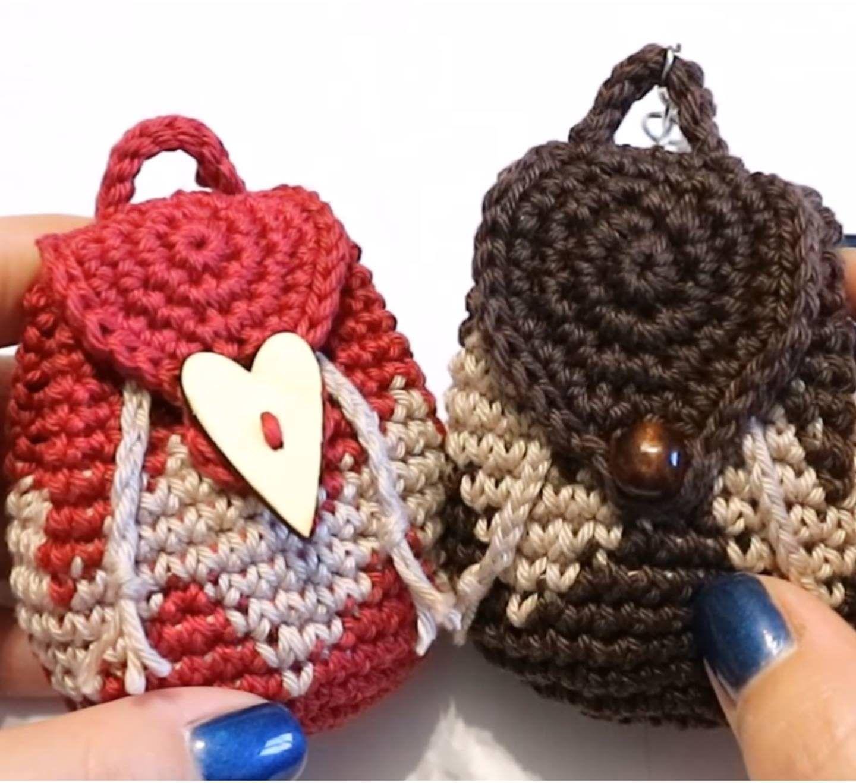 Crochet Tapestry Mini Backpack Purse | Pinterest | Häkeln ...