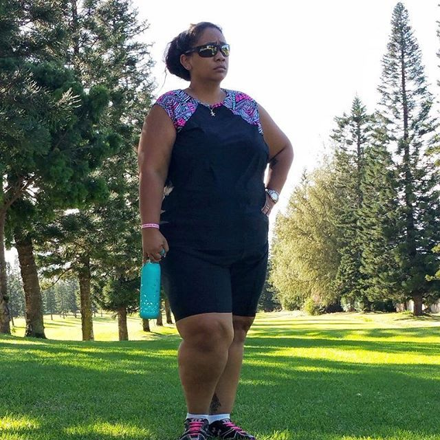 """@honeygirlk is rocking our Tidal Tank Sporty Sleeveless Swim n' Gym Top and Diving Diva Black Swim and Bike Shorts. There are more than 100 slimming mix-n-match separates to choose from, regardless of your size- girls, missy, plus sized"""" https://goo.gl/qKW6QJ"""