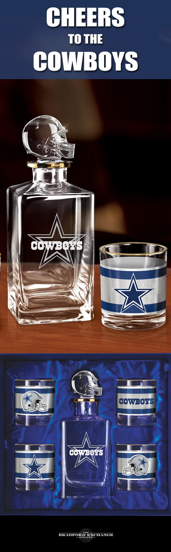 Raise a toast to your Dallas Cowboys with a handsome 5-piece ...