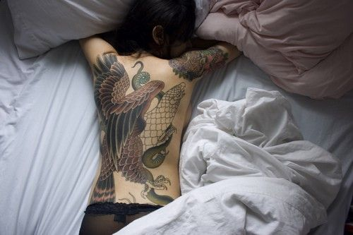 beautiful full back tattoo