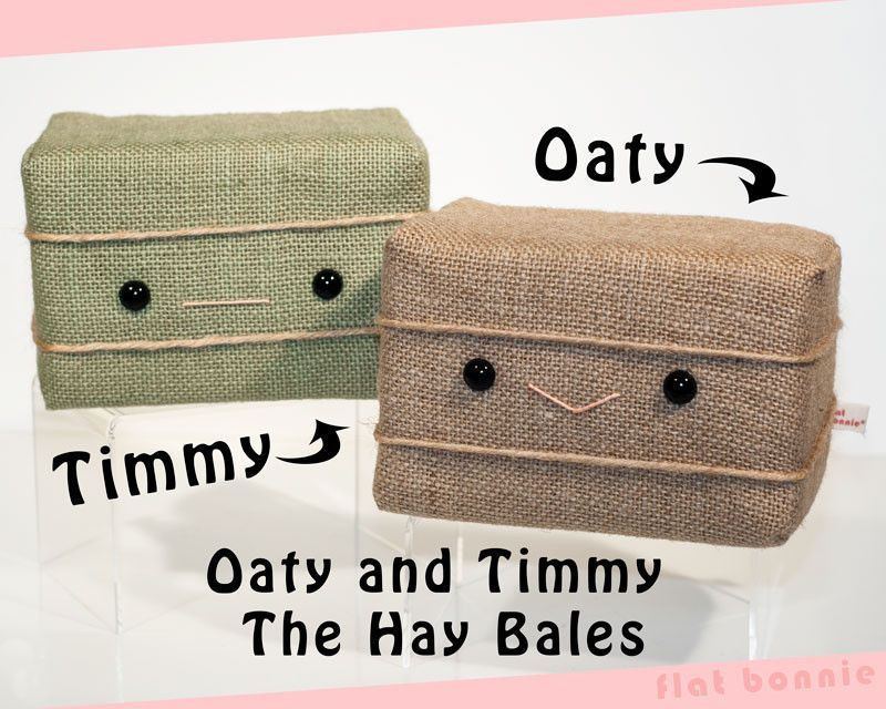 Hay Bale plush - Oaty and Timmy the Hay Bales