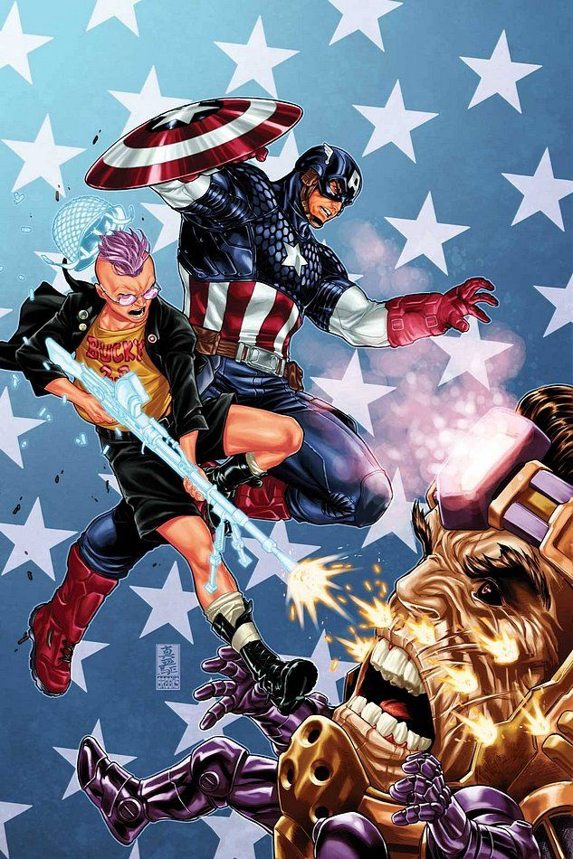 Avengers Vs X Men Captain America And Kid Omega Vs Modok By Mark Brooks Captain America Captain Comics