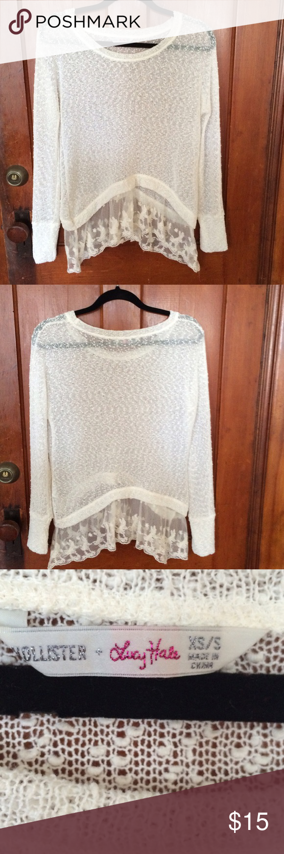 Hollister thin sweater (Lucy Hale) Very cute thin knitted sweater ...