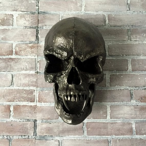 SUPER SALE   Halloween Decor   Door Hanger   Black Skull Wall