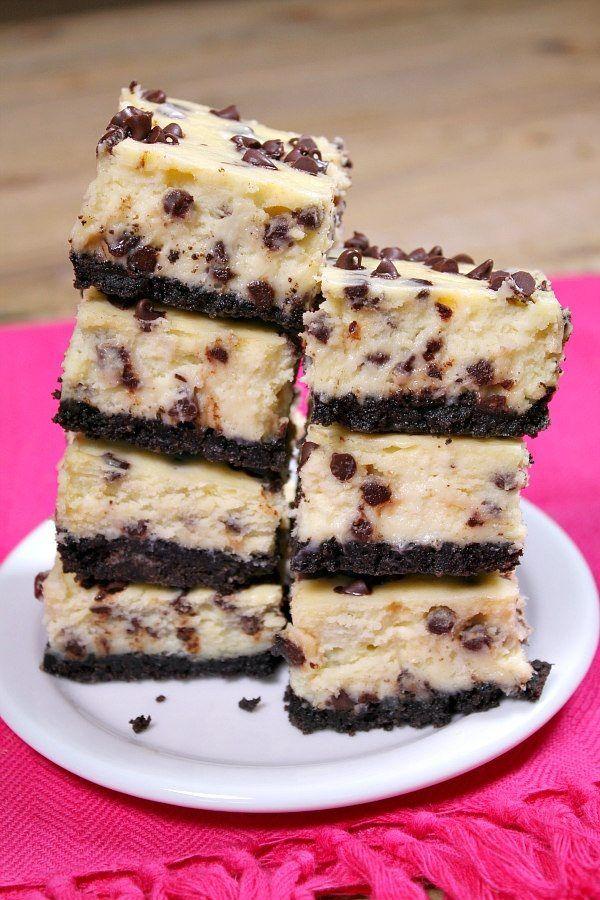 Chocolate Chip Cheesecake Bars Recipe Recipes