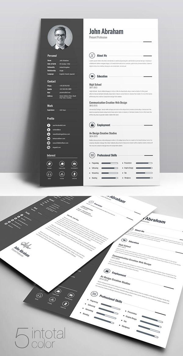 Freebie Minimal Creative Clean Resume Free Download