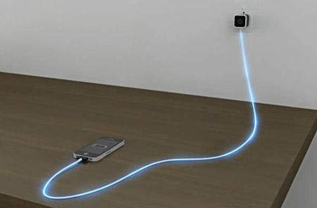 Charge your apple device with a cord that glows based on the charge level.