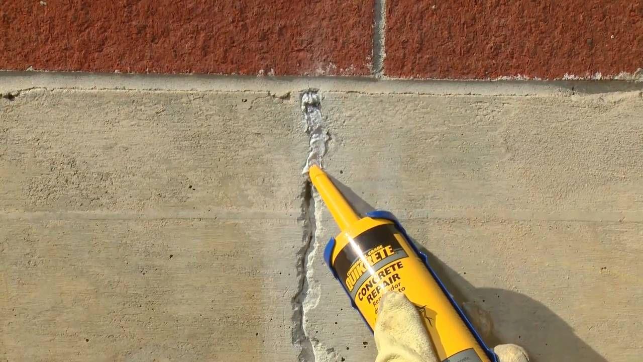 How To Repair Cracks In Vertical Concrete Surfaces With Quikrete Repair Cracked Concrete Concrete Concrete Decor