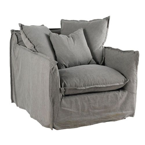 fauteuil en tissu d houssable cosy hanjel gris sofas pinterest fauteuils tissu et gris. Black Bedroom Furniture Sets. Home Design Ideas