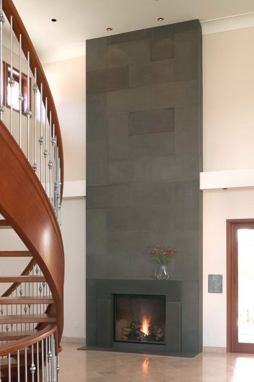 Modern Fireplace Surrounds Fireplace Surround Ideas Modern Block Cast Concrete Fireplace Hallway Modern Fireplace Contemporary Fireplace Fireplace Surrounds