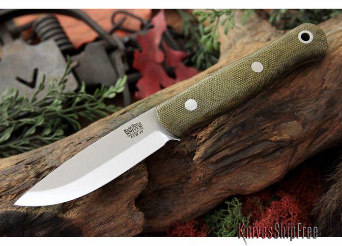 Bark River Knives: Ultra-lite Bushcrafter - CPM 3V - Green Canvas