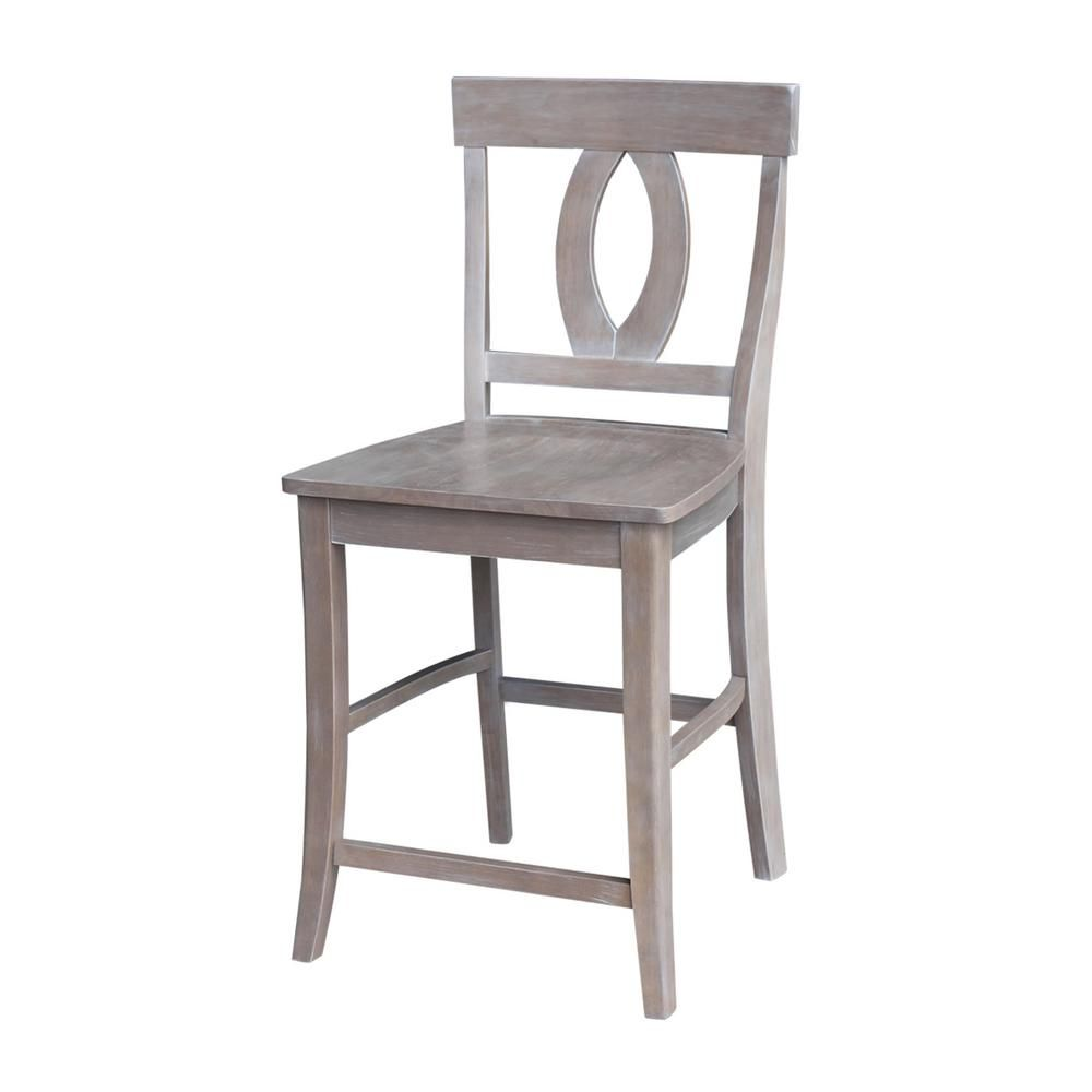 Tremendous Verona 24 In Weathered Taupe Gray Bar Stool Home Ncnpc Chair Design For Home Ncnpcorg