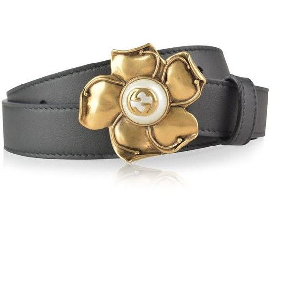 deab7d62036 Gucci Flower Buckle Belt ( 365) ❤ liked on Polyvore featuring accessories