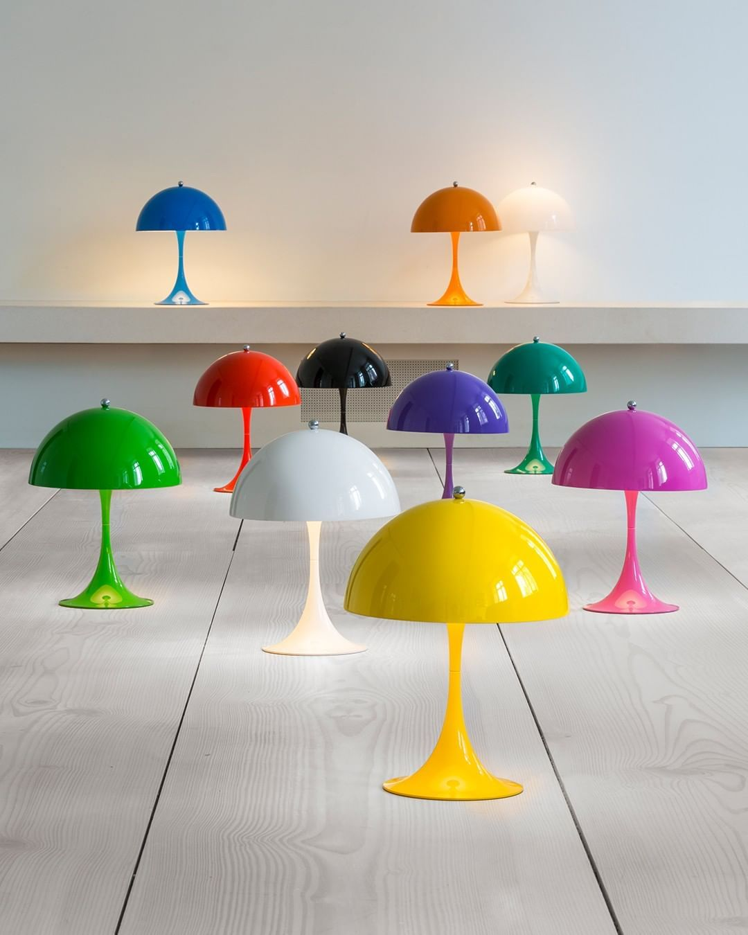 Louis Poulsen On Instagram Treat Your Home With A Splash Of Colour Panthella Mini Designed By Verner Panton Mini Table Lamps Lamp Design Mini Lamp