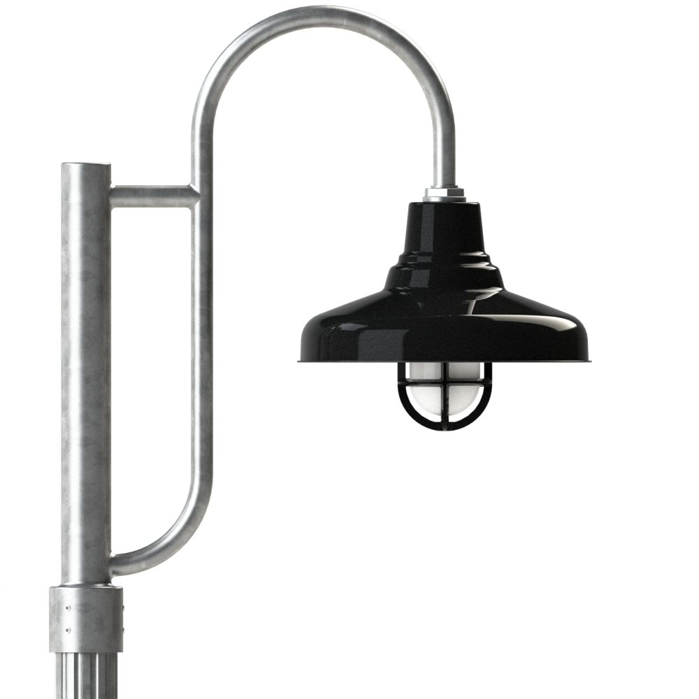 Barn Light Pole: Union Decorative RLM Shade Post Mount