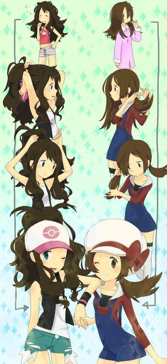 Pokemon Girls Getting Ready Heartgold Soulsilver Lyra Black