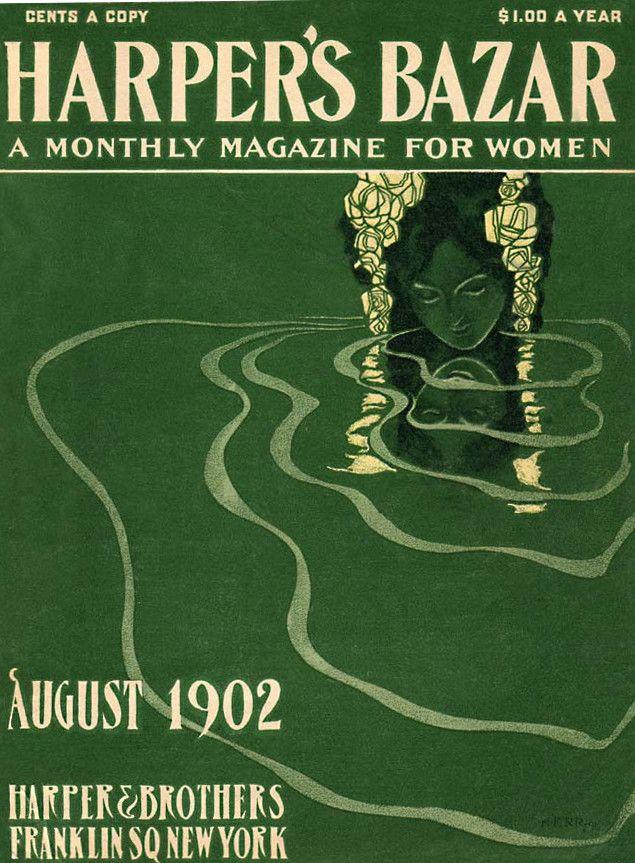 Harper's Bazaar (aka Harper's Bazar) magazine cover, August 1902.From here.