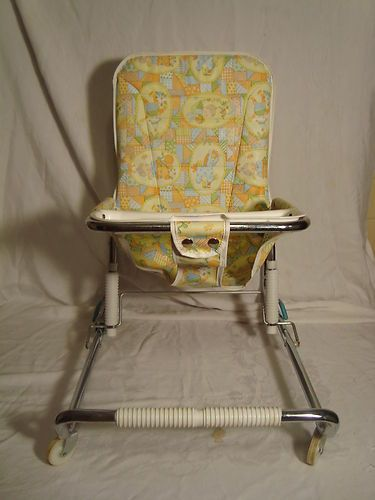 Walker Bouncing Chair Rocker Gaming Chairs Vintage 1950 S 1960 Infant Baby Bouncy Seat Ebay
