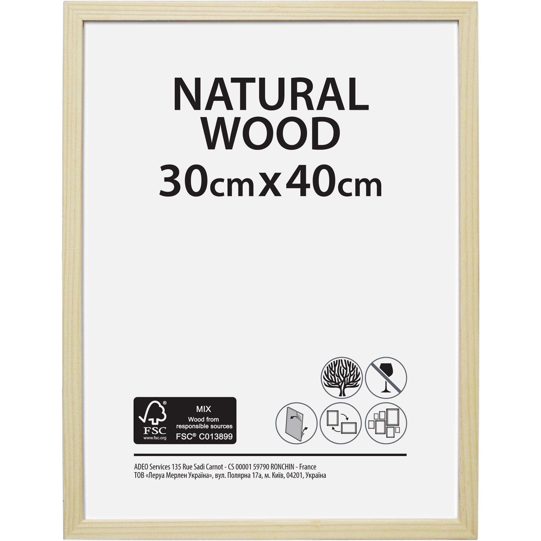 Cadre Bois Brut L 30 X H 40 Cm Bois Naturel En 2020 Bois Brut Cadre En Bois Et Bois Naturel