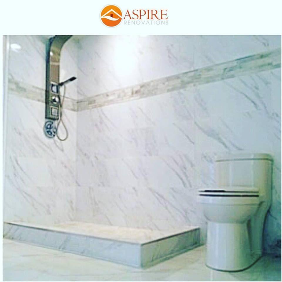 Marble wet room, Bathroom renovation Calgary. | custom renovations ...