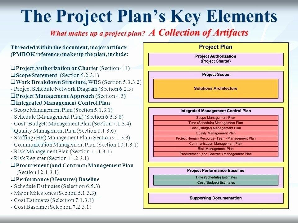30 Project Management Plan Template Pmbok in 2020 How to