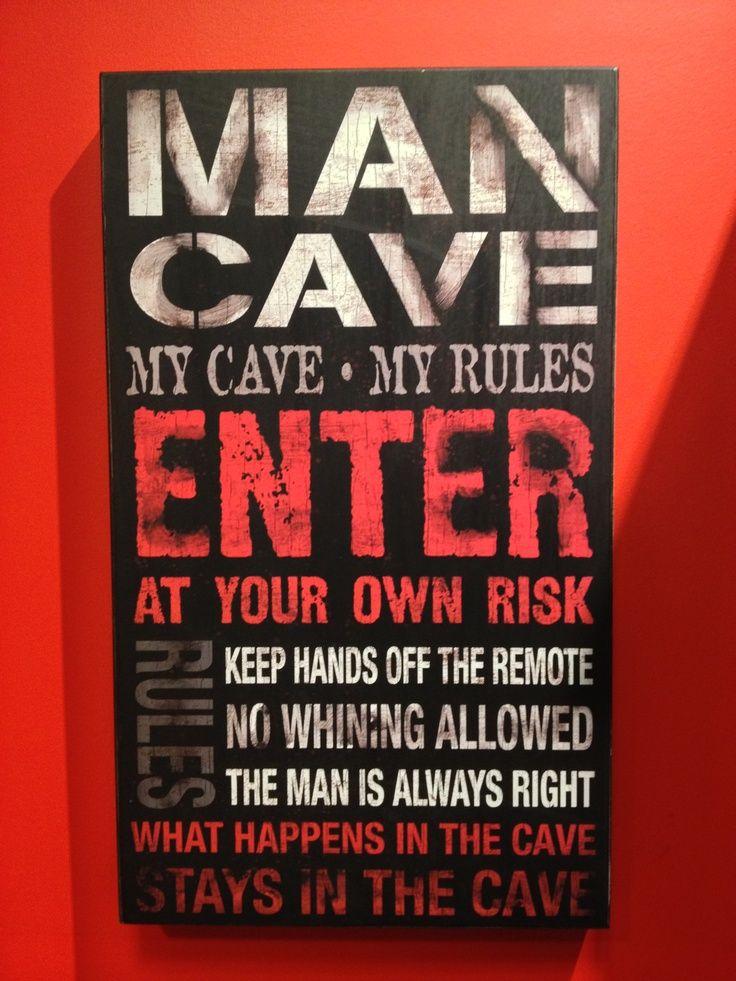 Man Cave Canvas Sign Mancave Ideeen Achtertuin Terrassen Mancave