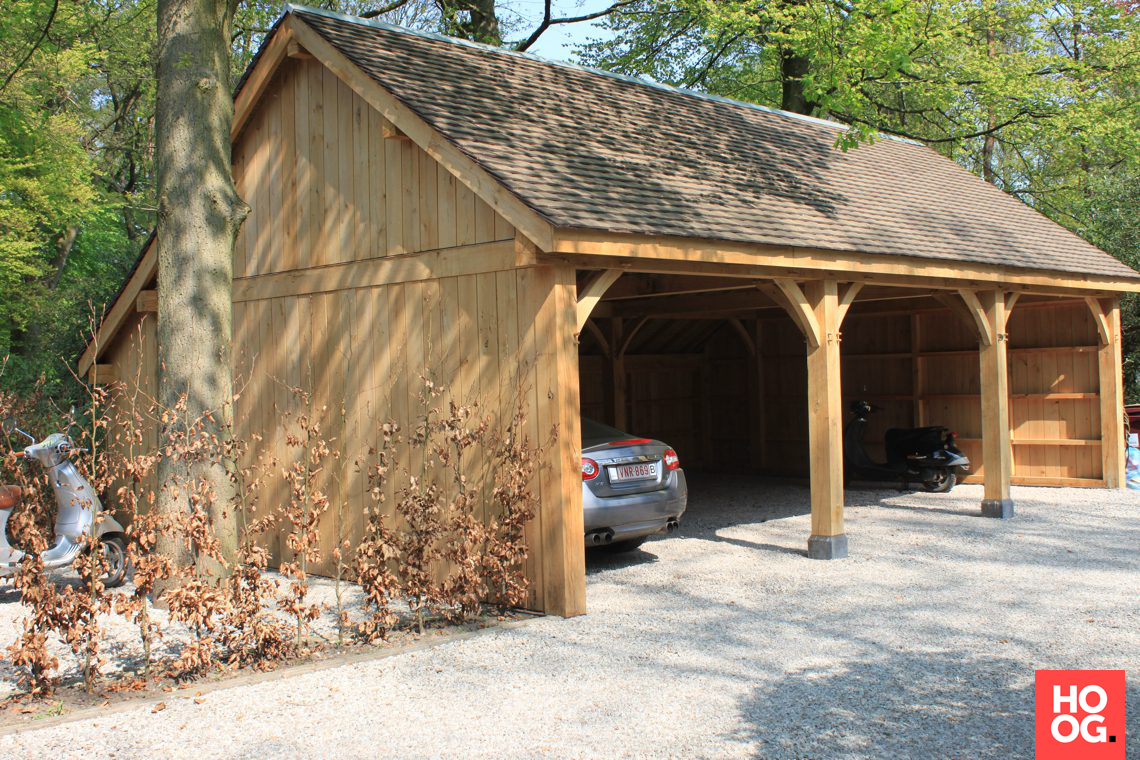 Crown log homes garage en carport hoog □ exclusieve woon en