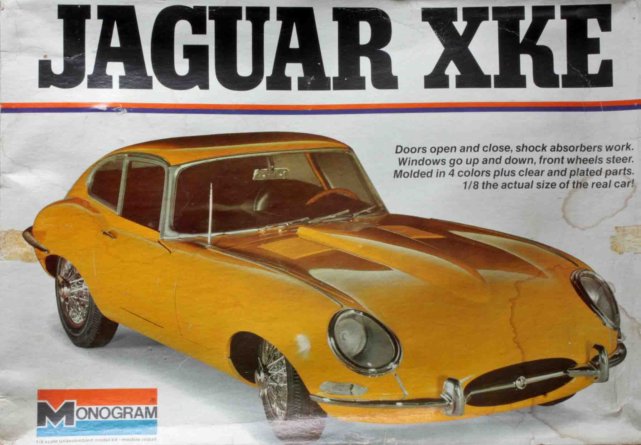 A rare 1970's Monogram 1:8 scale model kit of the iconic