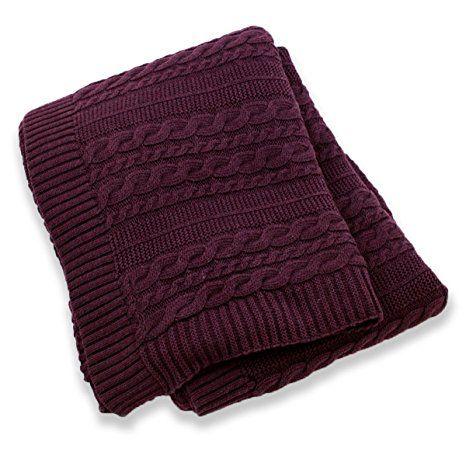 Amazon.com: Viverano Organic Cotton Cable Knit Throw Blanket, 50 X 70 Inches, Super Soft (Natural): Home & Kitchen