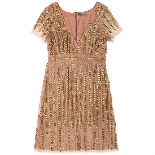 I've been so into menswear inspired clothing lately, I think it is time for a pink sparkly dress