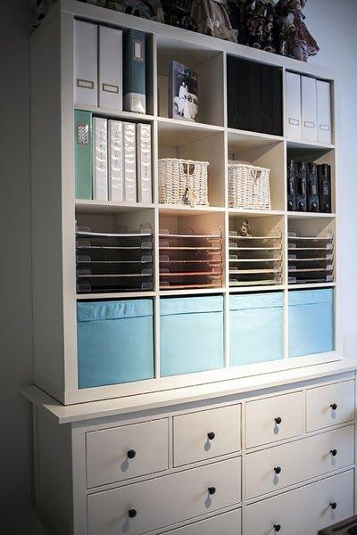 Craft storage unit could be made by combining IKEAu0027s Kallax and - küchenschrank mit schubladen