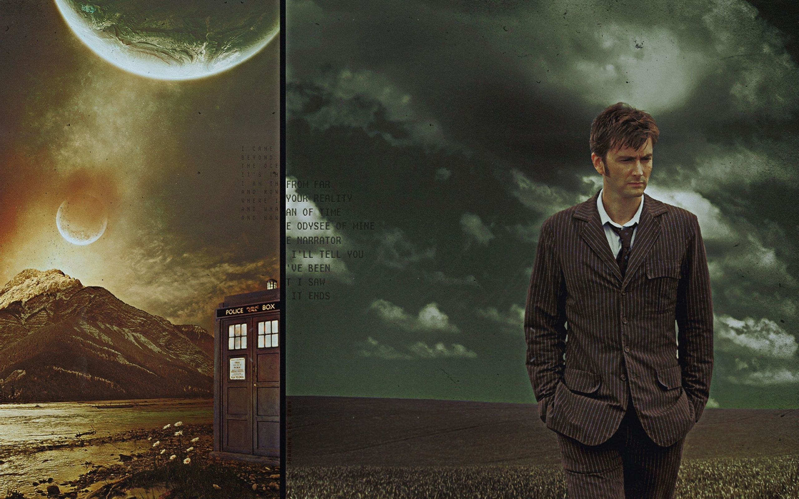 Text Tardis David Tennant Doctor Who Tenth Doctor 1440x900