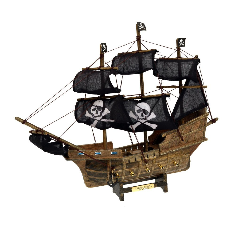 Queen Anne S Revenge Ship With Black Sails Pirate Nautical Sailing Themed Party Decorations Pirate Decor Black Sails Pirate Halloween Decorations