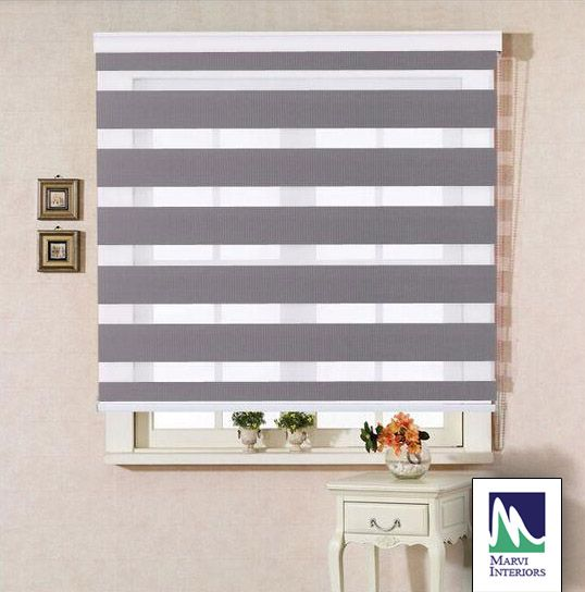 Find Latest Collection of Roller Zebra Blinds at www.marviinteriors.com
