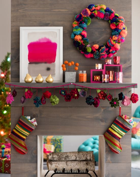 holiday diy a festive pom pom wreath fresh american style rh pinterest com