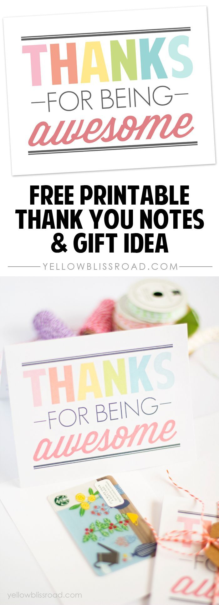 Free Printable Thank You Notes  Gift Teacher And Appreciation