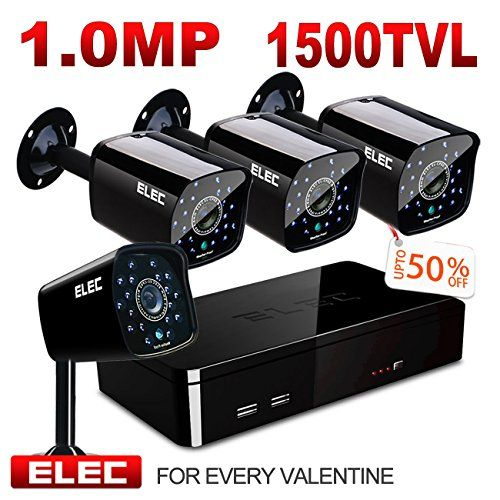 Elec 8 Channel 960h Cctv Dvr 4 Pcs Home Outdoor Security Camera Day Night Video S Video Security System Home Security Camera Systems Security Cameras For Home