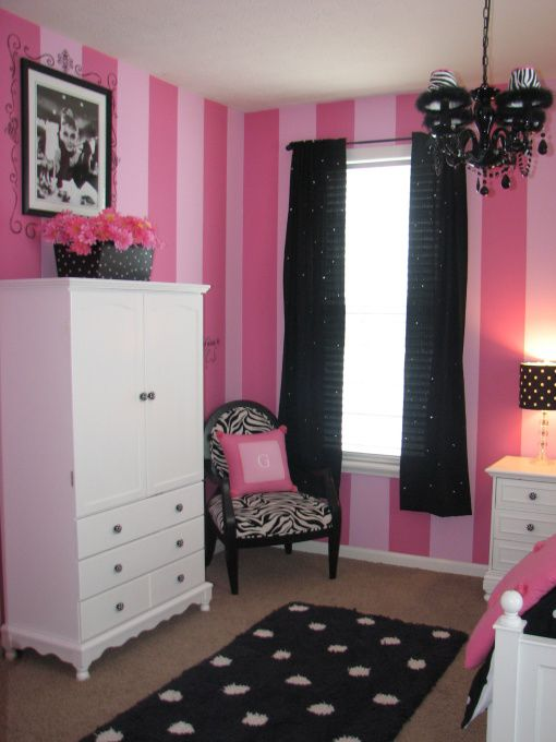 Pink And Black Bedrooms Gracie 39 S Pink And Black Bedroom