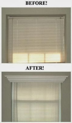 Room Crown Molding Over Window Blinds